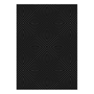 Stylish, black spirals design. large business cards (Pack of 100)