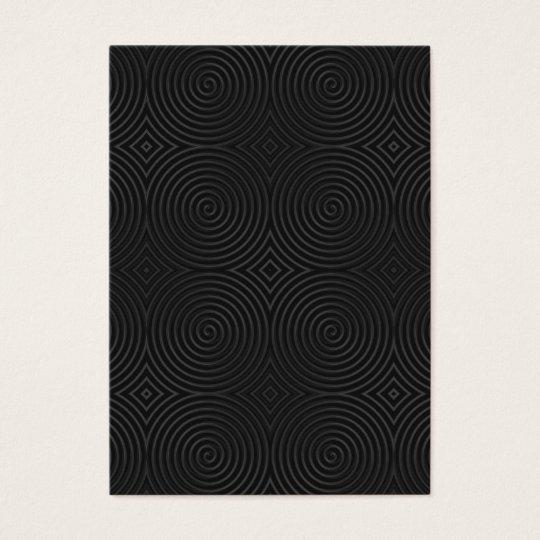 Stylish, black spirals design. business card