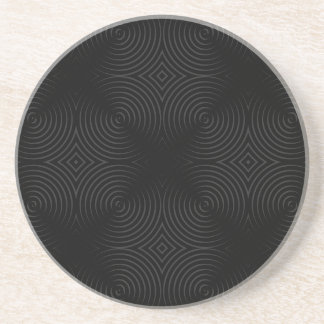 Stylish, black spirals design. drink coasters