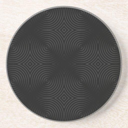 Stylish, black spirals design. drink coasters