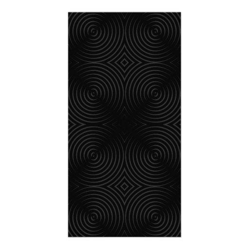 Stylish, black spirals design. photo card