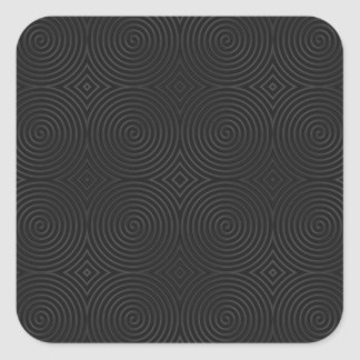 Stylish, black spirals design. square sticker