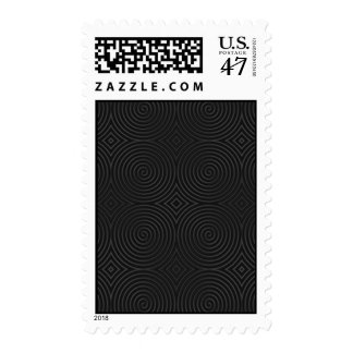 Stylish, black spirals design. stamp