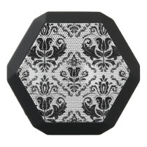 Stylish Black White Damask Decorate Pattern Black Bluetooth Speaker