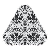Stylish Black White Damask Decorate Pattern Speaker