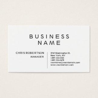 Stylish Black & White Standard Business Card