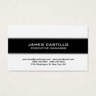 Stylish Black White Striped Modern Professional Business Card