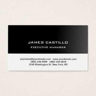 Stylish Black White Unique Modern Professional Business Card