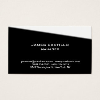 Stylish Black White Unique Modern Professional Business Card