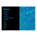 Stylish Blue Abstract Pattern. Fractal Art. Business Cards