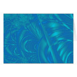 Stylish Blue Abstract Pattern. Fractal Art. Greeting Cards