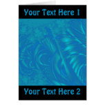 Stylish Blue Abstract Pattern. Fractal Art. Cards