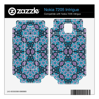 Stylish blue Abstract Pattern Nokia 7205 Intrigue Decal
