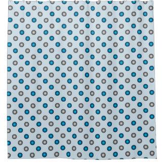 Silver Dots Shower Curtains | Zazzle