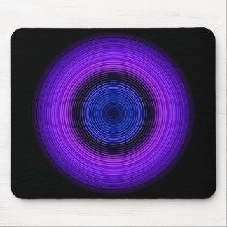 Stylish Blue Circle Pattern Mouse Pad