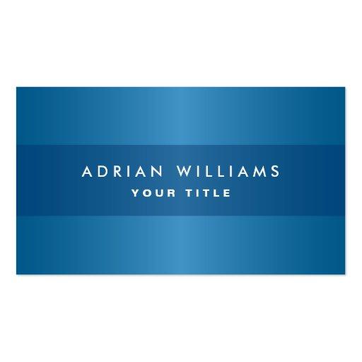 Stylish blue classy personal professional profile business card