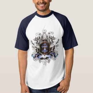 Stylish blue Cross Design T-shirt