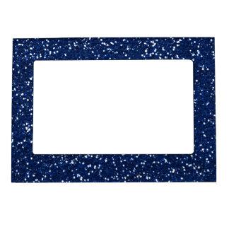 Stylish Blue Glitter Magnetic Photo Frame