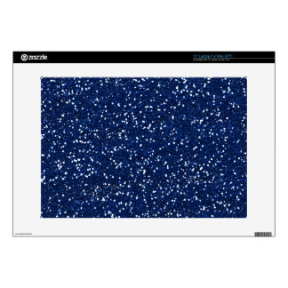 Stylish Blue Glitter Decals For Laptops