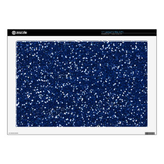 Stylish Blue Glitter Laptop Skins