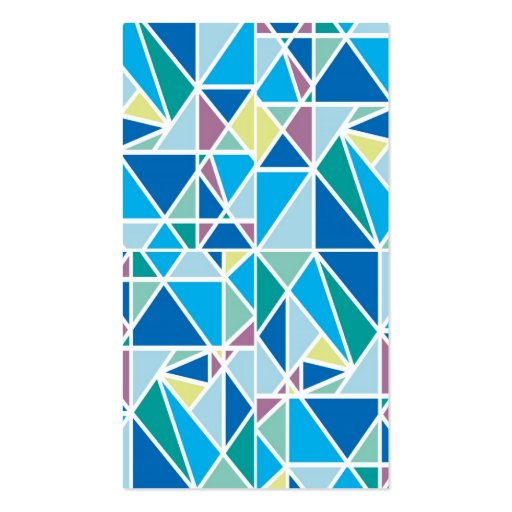 Stylish Blue Graphic Abstract Diamond Pattern Business Card Templates (back side)