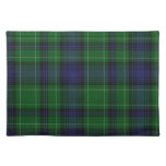 Stylish Blue & Green Abercrombie Tartan Plaid Cloth Placemat