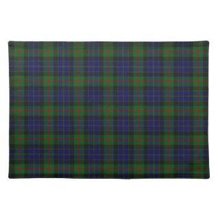 Stylish Blue, Green, And Red Clan Gun Tartan Plaid Cloth Placemat at Zazzle
