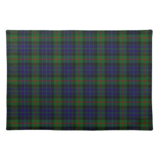 Stylish Blue, Green, and Red Clan Gun Tartan Plaid Cloth Placemat