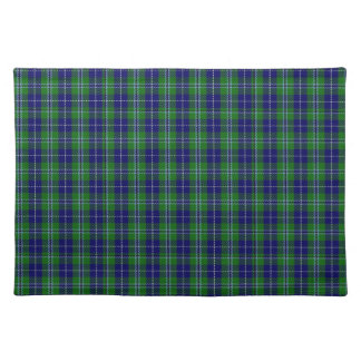 Stylish Blue & Green Douglas Tartan Plaid Cloth Placemat