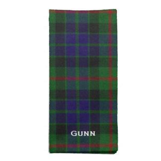 Stylish Blue & Green Gunn Tartan Plaid Napkin