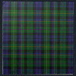 "Stylish Blue &amp; Green MacBride Tartan Plaid Cloth Napkin<br><div class=""desc"">Handsome traditional blue and green clan MacBride tartan plaid pattern.  Customize to add any text you want. Matching products available.   Makes a great gift idea for anyone.</div>"