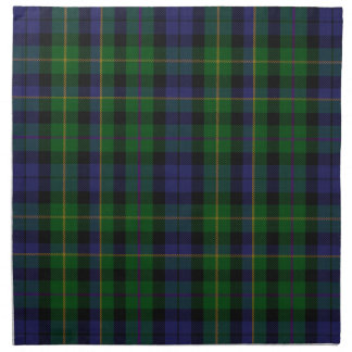 Stylish Blue & Green MacBride Tartan Plaid Cloth Napkin