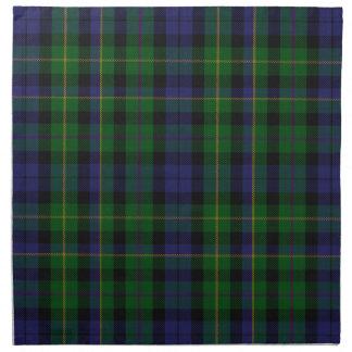 Stylish Blue & Green MacBride Tartan Plaid Cloth Napkin