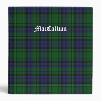 Stylish Blue & Green MacCallum Tartan Plaid Binder