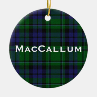 Stylish Blue & Green MacCallum Tartan Plaid Ceramic Ornament