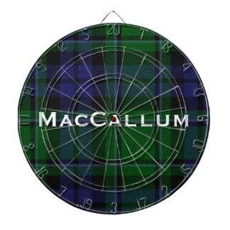 Stylish Blue & Green MacCallum Tartan Plaid Dartboard With Darts