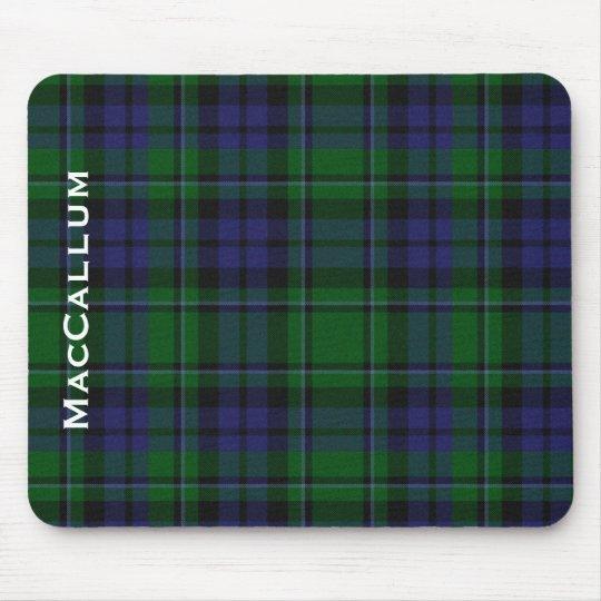 Stylish Blue & Green MacCallum Tartan Plaid Mouse Pad
