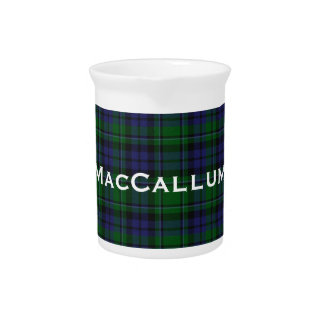 Stylish Blue & Green MacCallum Tartan Plaid Pitcher