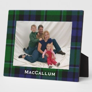 Stylish Blue & Green MacCallum Tartan Plaid Photo Plaques