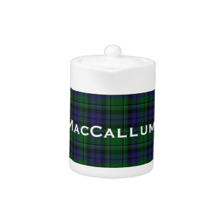 Stylish Blue & Green MacCallum Tartan Plaid Teapot
