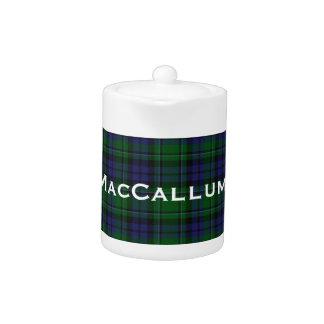 Stylish Blue & Green MacCallum Tartan Plaid Teapot