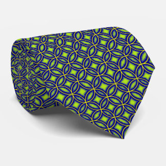 Stylish Blue Green Mix Moroccan Tile Patterned Tie