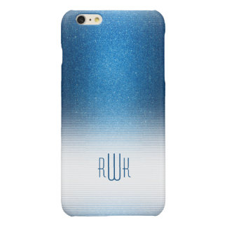 Stylish Blue Monogram | Boy's Professional Gifts Glossy iPhone 6 Plus Case