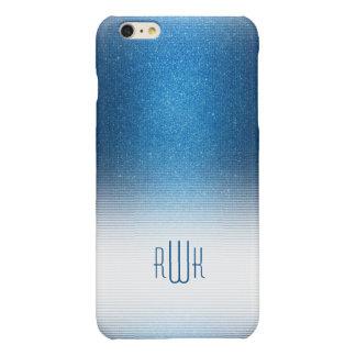 Stylish Blue Monogram | Boy's Professional Gifts Glossy iPhone 6 Plus Case