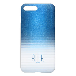 Stylish Blue Monogram | Boy's Professional Gifts iPhone 7 Plus Case
