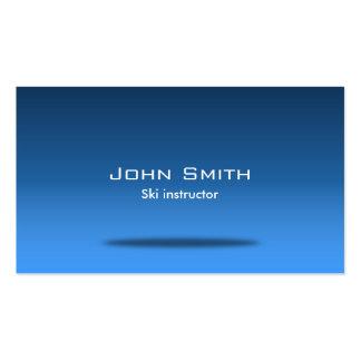 Stylish Blue Room Ski Business Card