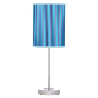 Stylish Blue Vertical Stripes Desk Lamp