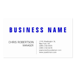 Stylish Blue White Manager Business Card