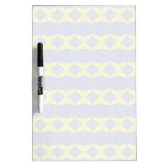 stylish blue yellow vertical pattern dry erase board
