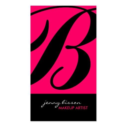 Stylish & Bold Make-Up Artist Business Cards